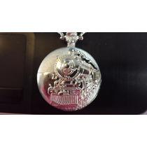 Reloj De Bolsillo Ferrocarrilero 1950 Plateado Y Dorado