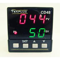 Controlador Digital De Temperatura 48x48 Com 2 Displays