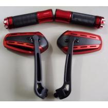 Kit Retrovisor Manopla Cg Twister Cb300 Ybr Factor Fazer Yes