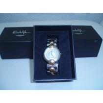 Reloj Dama Prestigiada Mca. Longines Oro Y Cristal De Zafiro