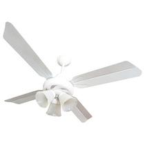 Ventilador De Techo Auvent - 4 Palas Metal - Blanco Con Luz