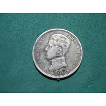 Moneda 1 Una Peseta 1904, España Km# 721 De Plata