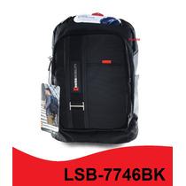 Mochila Backpack Swiss Lsb-7746bk Para Laptop 15.6 Puebla