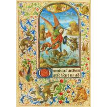 Lienzo Tela Arte Sacro San Miguel Arcangel Grabado 50 X 70cm