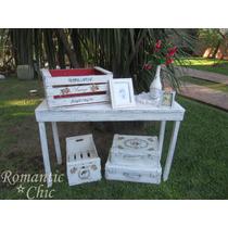 Mesa De Arrime . Shabby Chic, Decoracion. Antigua Vintage