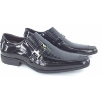 Sapato Social Masculino Couro Verniz Envernizado Legítimo