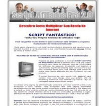 Script De Afiliados - Script Afiliados Pro 2.0 +vídeo Manual