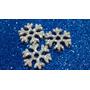 Festa Frozen Floco De Neve C/ Gliter 2cm Com 10