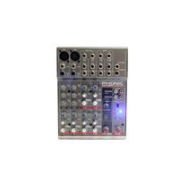 Mesa De Som Mixer Phonic Am 105 Fx Com Efeitos