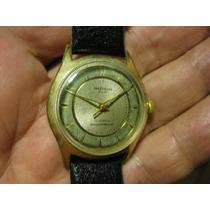 Relógio Madison Suíço Pulso Corda Antigo Plaque Ouro Coleção