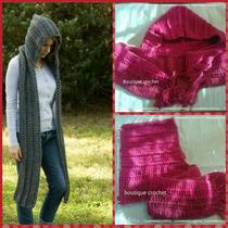 Bufanda Capucha Tejida Al Crochet