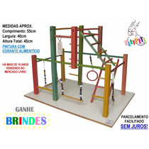 Playground Parquinho Maxi P/ Calopsitas, Aves + Brinde!!
