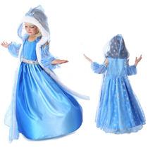 Disfraz Frozen Princesa Elsa Anna Vestido Niña No Disney