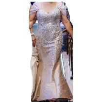 Vestido De Fiesta Completamente Bordado De Cristales
