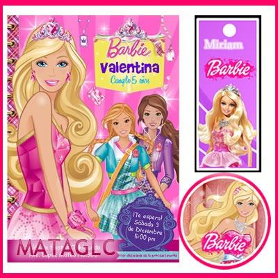 2x1 Invitaciones Barbie Escuela De Princesas Golosinas Cajas - Bs ...