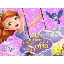 Kit Imprimible Princesita Sofia, Invitaciones Y Cajitas