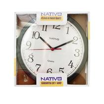 Relógio De Parede Nativo 1 Ano De Garantia