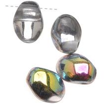 Cuentas Cristal Prensado Checo Forma Pétalo Cristal Vitral
