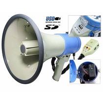 Megafono Portatil Usb Sd Mp3 Sirena 50 W Bateria Recarg12v