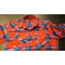 Camisas Hombre Con Broche 2 Bolsillos Con Tapa Boton En Mang