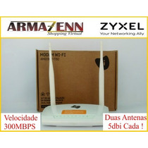 Modem Roteador Adsl2 Wifi 300mbps 2 Antenas Zyxel