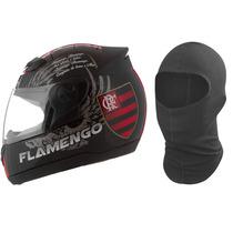 Capacete De Moto Flamengo Produto Oficial Pro Tork N 60