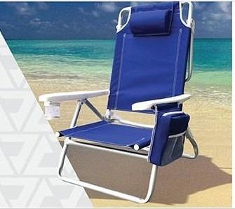 Cadeira de praia alum nio 5 posi es c porta copo e objetos r 169 00 em mercado livre - Carro para playa transportar sillas ...