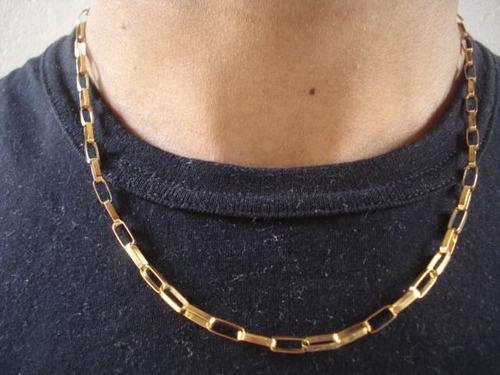 339d0c2280b Corrente Cordao Ouro 18k Masculino Cartier 60cm Frete Gratis R  2 749 00 em  Mercado