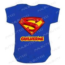 Super Baby Super Man Body Infantil Azul Super Homem