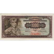 Billete Yugoslavia 1000 Dinara 1955 Pick 71b S/c