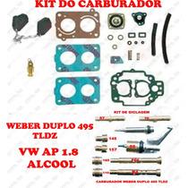 Kit Carburador Weber 495 Tldz Gol/voyage/parati 1.8 Alcool