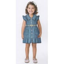 Trick Nick- Vestido Infantil Jeans Com Botões E Cinto 118327