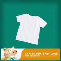 Camisa Baby Look Branca P/sublimação/qualidade/envio Rápido!