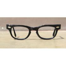 Lentes Vintage Cat Eye, Color Negro, Usa, Año 1960, Gafas