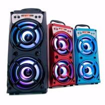 Caixa Som Amplificada Radio Fm Usb Mp3 Sd Bluetooth + Brinde