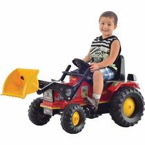 Trator Infantil Com Pá Vermelho Pedal Buzina - Biemme