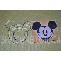 *kit 3 Cortadores Mickey Mouse Galleta Fondant Royal Icing*