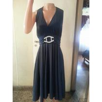 Vestido De Noche Crepe De Jersey Con Recorte T X Xxl $ 890