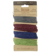 Cordel P/cuentas 1mm Hilo Cáñamo Nat Variedad Joya 4 Colores