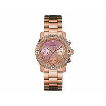 Reloj Guess Mod. W0774l3 Dorado Tono Oro Rosa Para Dama