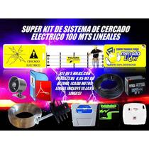 Super Kit Cerco Electrico 100 Mts Energizador Y Mucho Mas