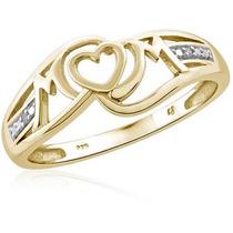 Jewelersclub White Diamond Accent Oro Sobre Madre Anillo De