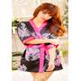 Baby Doll Kimono Rayón Seda Satin Sexy Pijama Lencería Cali