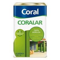 Tinta Acrilica Fosca Para Interior Coral Rosa Açai 18 Lts