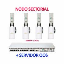 Nodo Wisp Profesional Sectorial Sn-bsr-58x4 20dbi 5.8ghz Isp