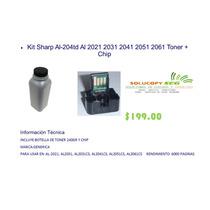 Kit Sharp Al-204td Al 2021 2031 2041 2051 2061 Toner + Chip