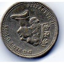 Moeda De Coleção One Pound 1993, Inglaterra, Elizabeth Ii