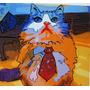 Arte Cuadros Original Oferta Regalo Gatos Decoración