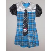 Disfraz Tipo Monster High, Frankie Stein, Talla 3 Años