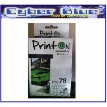 Cartucho De Tinta Compatible Con Hp 78 Color Printon